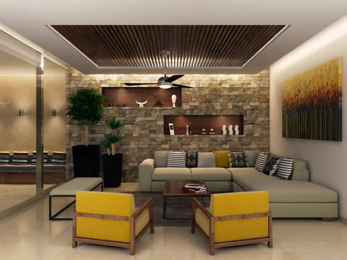 Propuesta 2 Sala: Salas de estilo moderno por Interiorisarte
