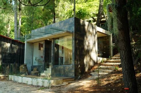 Loft Manatí, Vista Principal.: Casas de estilo minimalista por T+E ARQUITECTOS