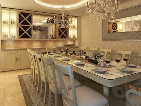 Comedor Clasico : Comedores de estilo clásico por Interiorisarte