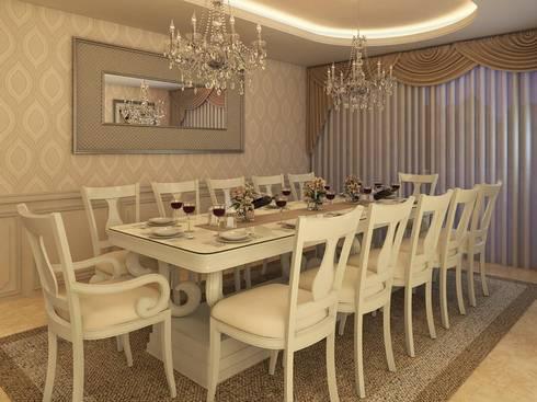 Comedor y Terraza : Comedores de estilo clásico por Interiorisarte