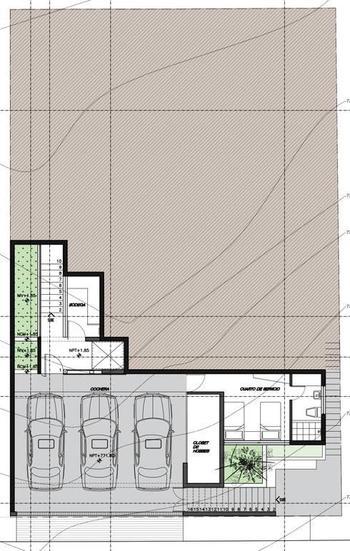 PLANTA SOTANO:  de estilo  por 75 Arquitectura