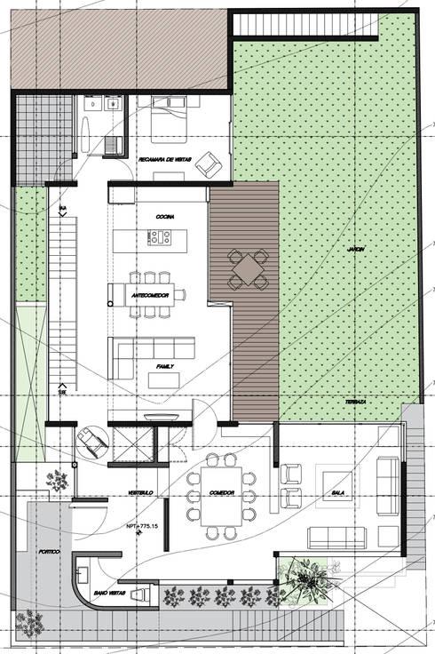 PLANTA BAJA:  de estilo  por 75 Arquitectura