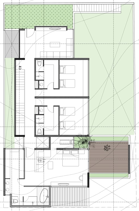 PLANTA ALTA:  de estilo  por 75 Arquitectura