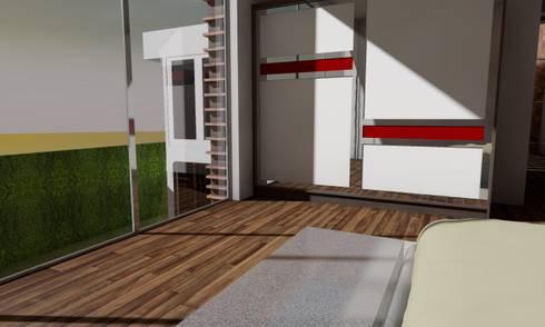 Casa Sin Rostro: Recámaras infantiles de estilo minimalista por ARQUITECTURA MB&A