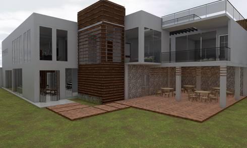 Casa Sin Rostro: Jardines de estilo minimalista por ARQUITECTURA MB&A