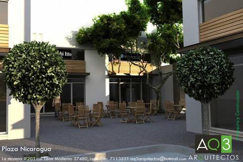 Plaza Nicaragua:: Centros Comerciales de estilo  por AQ3 Arquitectos