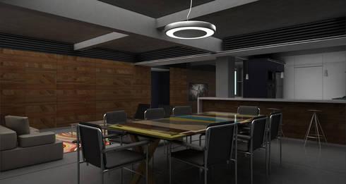 Gus - RIMA Arquitectura: Comedores de estilo moderno por RIMA Arquitectura