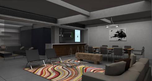 Gus - RIMA Arquitectura: Salas de estilo moderno por RIMA Arquitectura