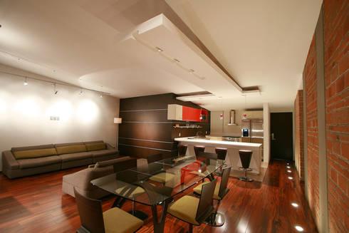 Taracena - RIMA Arquitectura: Comedores de estilo moderno por RIMA Arquitectura
