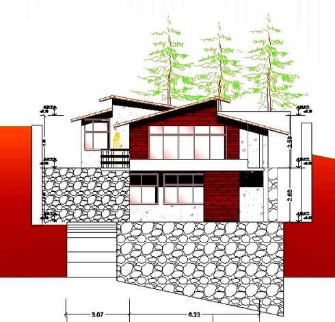 FACHADA:  de estilo  por Arquitecto Eduardo Carrasquero
