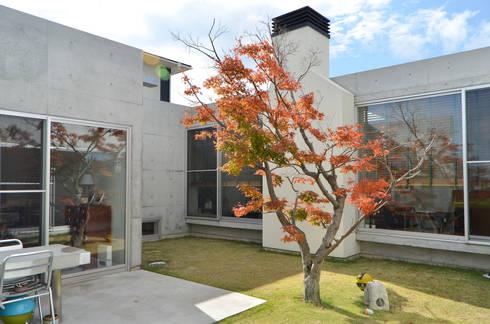 麦畑に囲まれた家: 風景のある家.LLCが手掛けた家です。