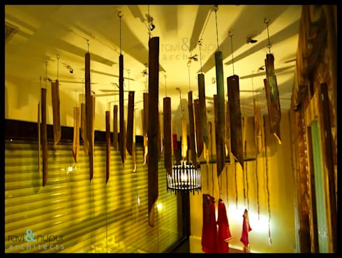 Bambooo Chandilier:  Commercial Spaces by RAVI - NUPUR ARCHITECTS
