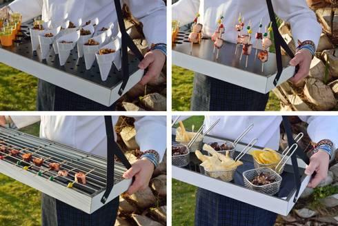 La nueva bandeja multiusos para catering de klimer desc brela de klimer homify - Accesorios para catering ...