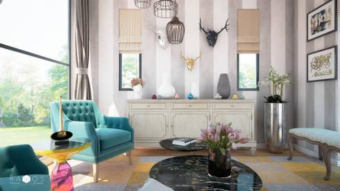 Sala de estar para músico: Salas de estilo ecléctico por MRamos