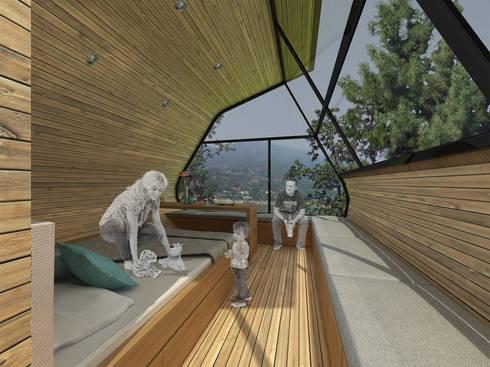 Casa del Árbol - RIMA Arquitectura: Terrazas de estilo  por RIMA Arquitectura