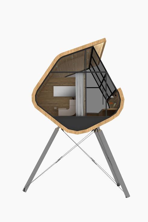 Casa del Árbol - RIMA Arquitectura: Pasillos y recibidores de estilo  por RIMA Arquitectura