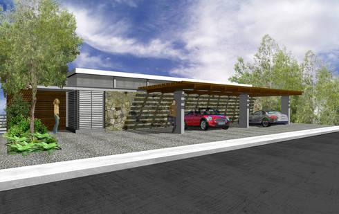 Casa Prado Largo - RIMA Arquitectura: Garajes de estilo moderno por RIMA Arquitectura