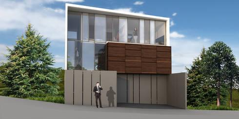 Casa Bosque Real - RIMA Arquitectura: Casas de estilo moderno por RIMA Arquitectura