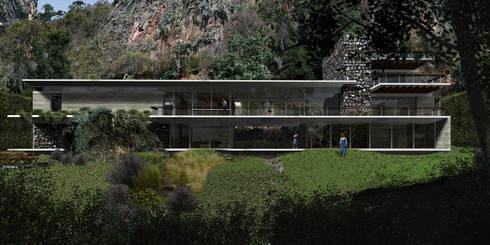 Casa Valle la Peña - RIMA Arquitectura: Casas de estilo moderno por RIMA Arquitectura