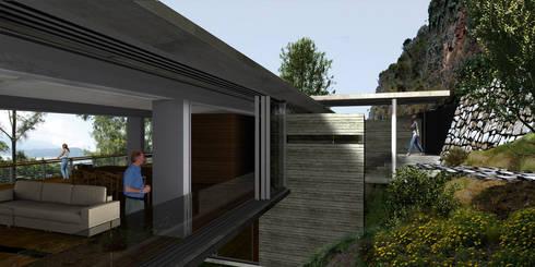 Casa Valle la Peña - RIMA Arquitectura: Terrazas de estilo  por RIMA Arquitectura