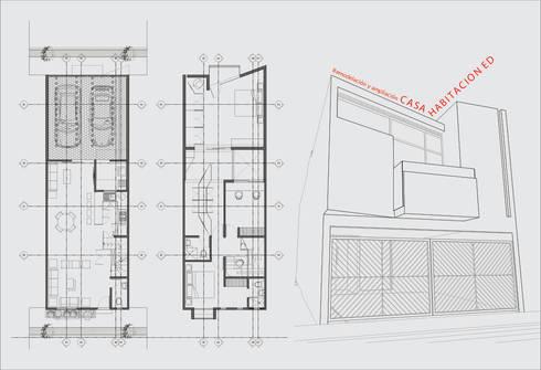 Plantas arquitectónicas:  de estilo  por Flores Rojas Arquitectura