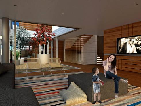 Bacatete - RIMA Arquitectura: Salas de estilo moderno por RIMA Arquitectura