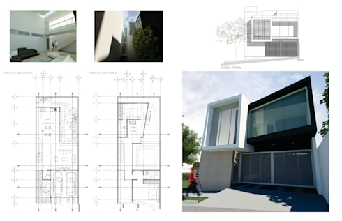 PORTAFOLIO DE PROYECTOS FLORES ROJAS ARQUITECTURA:  de estilo  por Flores Rojas Arquitectura