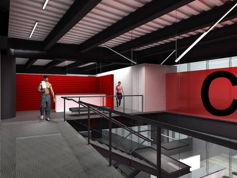CrossFit - RIMA Arquitectura: Gimnasios de estilo moderno por RIMA Arquitectura