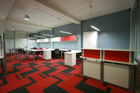 Grupo Crugar - RIMA Arquitectura: Estudios y oficinas de estilo moderno por RIMA Arquitectura