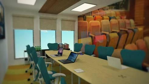 Sala de juntas: Salas multimedia de estilo moderno por Ingenieros y Arquitectos Continentes
