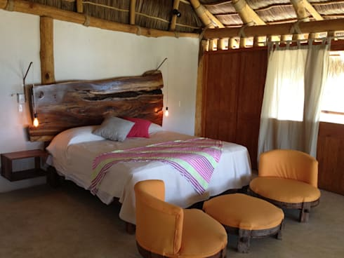 MARAICA: Hoteles de estilo  por Estudio Tresuncuarto