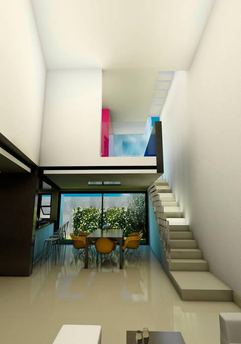 Projekty, minimalistyczne Domy zaprojektowane przez Flores Rojas Arquitectura