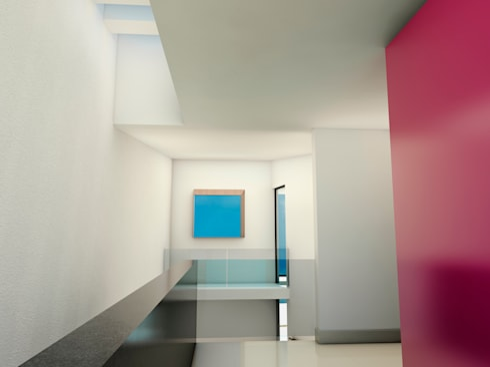 El espacio debe fluir del exterior al interior: Casas de estilo minimalista por Flores Rojas Arquitectura