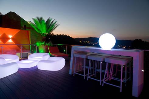 Terraza PH El Peñon: Terrazas de estilo  por Objetos DAC