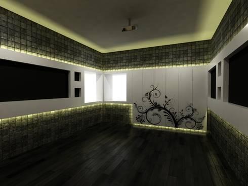 Mr.Javed: asian Media room by Shadab Anwari & Associates.