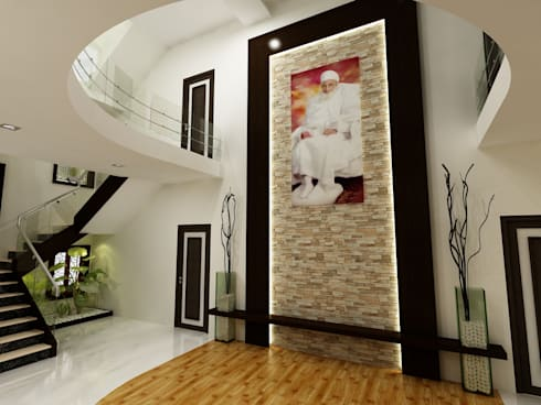 Mr.Javed: asian Living room by Shadab Anwari & Associates.