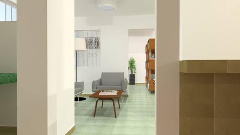 Sala de estar: Casas de estilo moderno por Ingenieros y Arquitectos Continentes