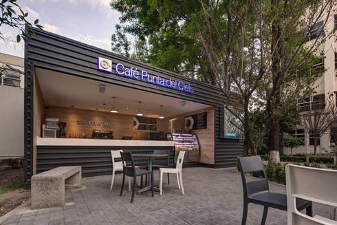 Café Punta del Cielo - RIMA Arquitectura: Comedores de estilo moderno por RIMA Arquitectura