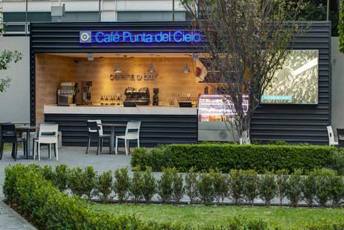 Café Punta del Cielo - RIMA Arquitectura: Estudios y oficinas de estilo moderno por RIMA Arquitectura