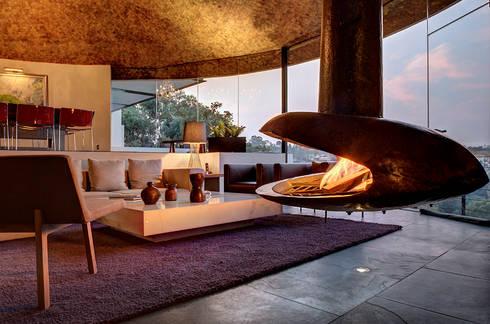Casa LA 356 - RIMA Arquitectura: Salas de estilo moderno por RIMA Arquitectura