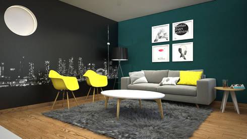 CERRO AZUL: Salas de estilo moderno por Kuro Design Studio