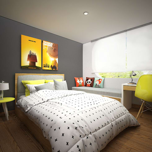 CERRO AZUL: Habitaciones infantiles de estilo  por Kuro Design Studio