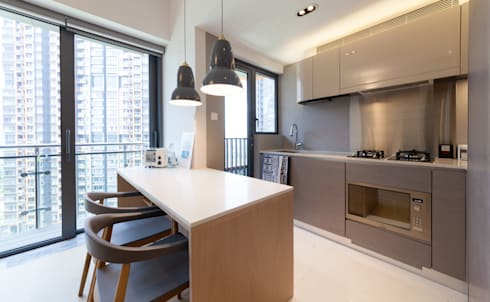 PW's RESIDENCE: minimalistic Kitchen by arctitudesign