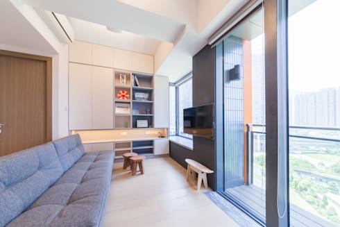 PW's RESIDENCE: minimalistic Living room by arctitudesign