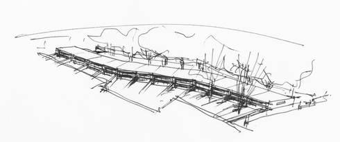Esquisso de estudo:   por Serôdio, Furtado & Associados, Arquitectos Lda.