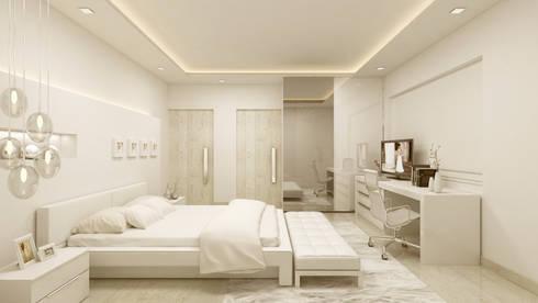BEDROOM:   by De Panache  - Interior Architects