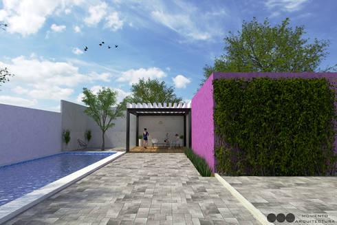 Proyecto Area de reuniones: Jardines de estilo moderno por MOMENTO Arquitectura