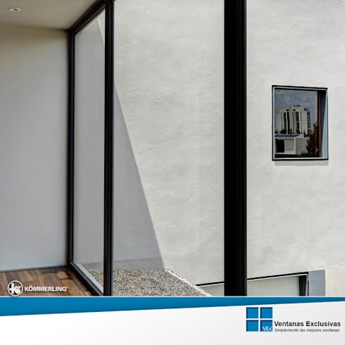 Sistemas de presión: ventana fija: Hogar de estilo  por Ventanas Exclusivas Guadalajara