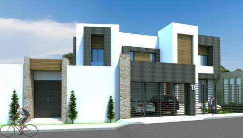 Proyecto Casa MF: Casas de estilo moderno por Acrópolis Arquitectura