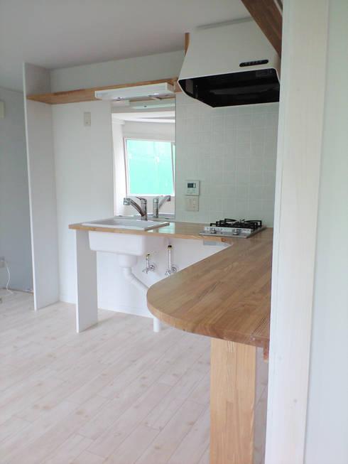 渋谷本町4-R: &lodge inc. / 株式会社アンドロッジが手掛けたキッチンです。